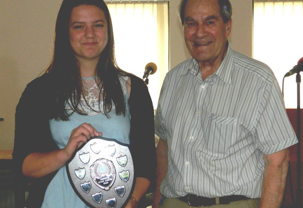 Highest achiever award goes to Sophie Stocker