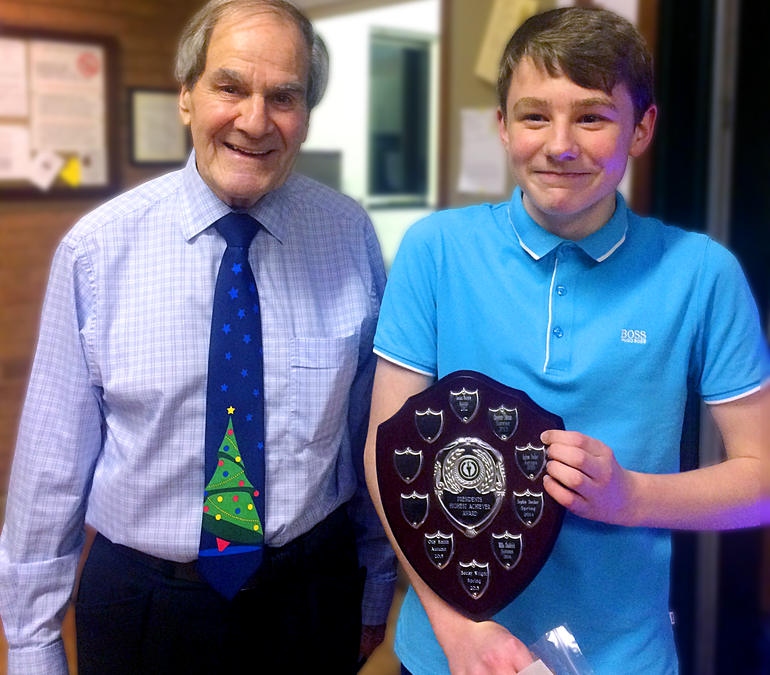 Olly wins President's award