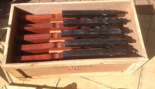 Splurge Guns in crate