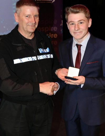 Olly receives his Achievement Award